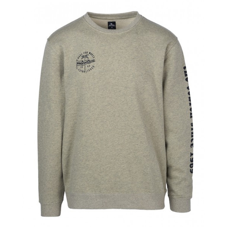 RIP CURL Свитшот М ICONIC CREW FLEECE, SLATE GREEN MARLE
