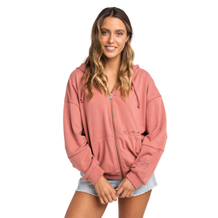 RIP CURL Флис Ж GOOD WAVES ONLY ZIP THRU FLEECE цвет 9332 CANYON ROSE