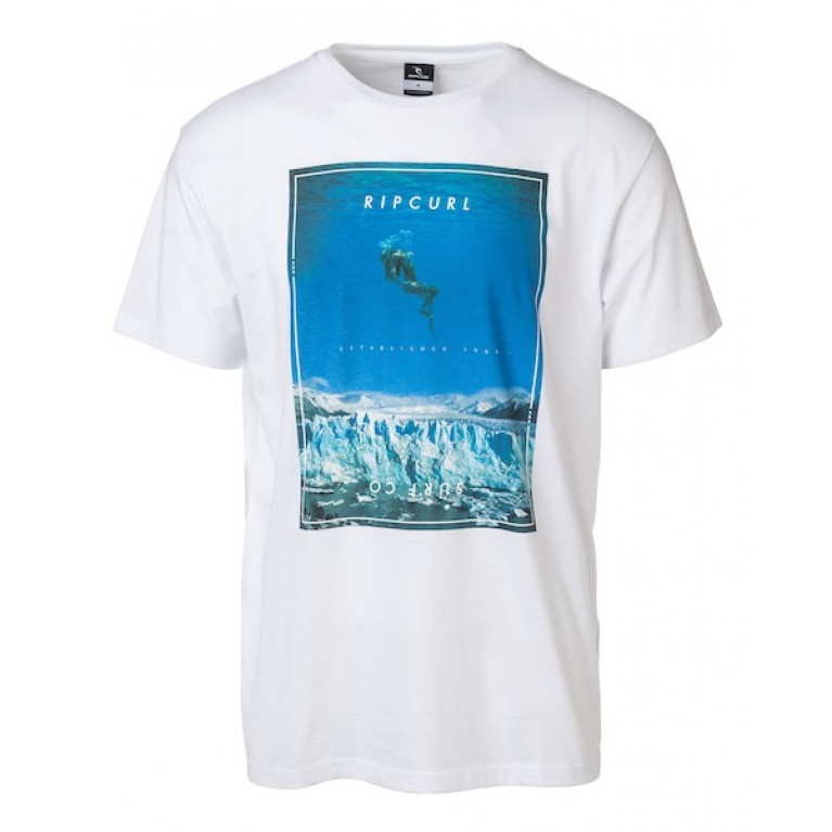 RIP CURL Футболка М GOOD DAY BAD DAY TEE цвет 1638 WHITE/BLUE
