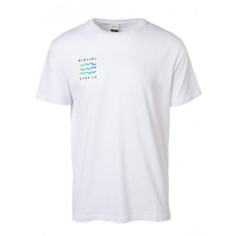 RIP CURL Футболка М ARTY MODERN TEE ; цвет 3262 OPTICAL WHITE