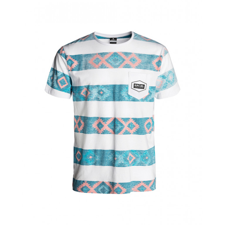 RIP CURL Футболка М UNDERLINE TEE, OPTICAL WHITE