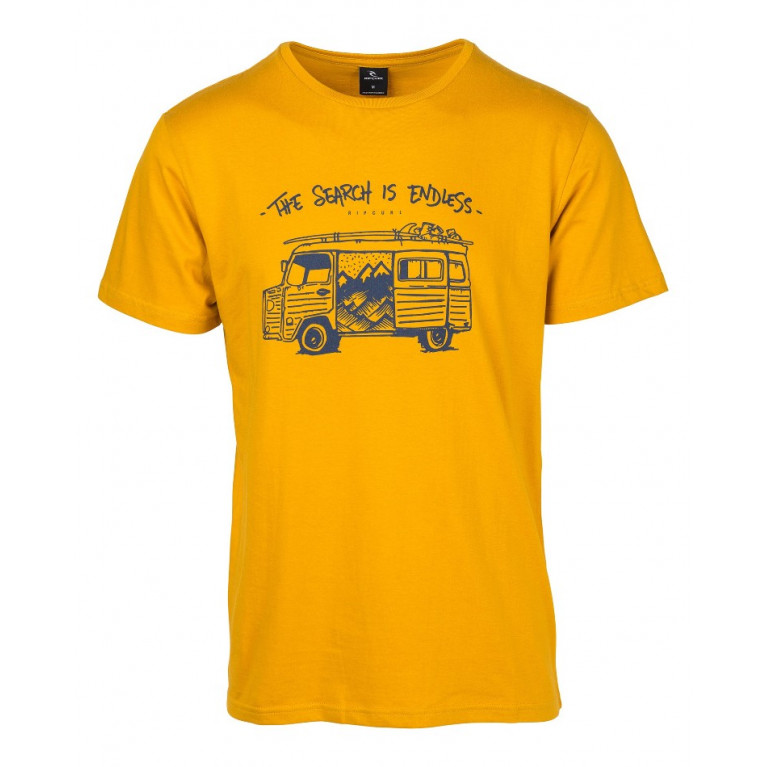 RIP CURL Футболка М WAGON S/S TEE GOLDEN YELLOW