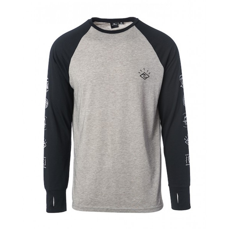 RIP CURL Лонгслив М SHRED LS TEE JET BLACK