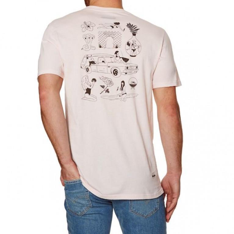 BILLABONG футболка BEACH CLOSED TEE SS LIGHT LILAC в Перми
