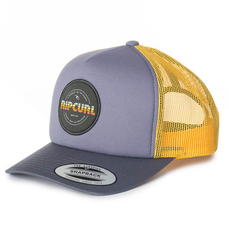 RIP CURL Бейсболка М LABELLED TRUCKER CAP цвет 9442 FLINT GRAY