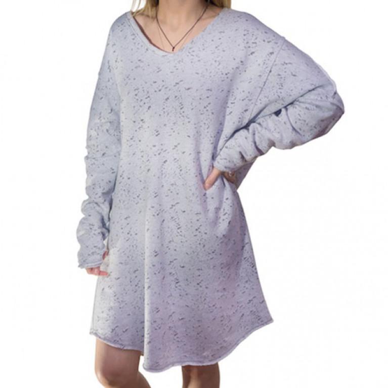 ONE MORE WAVE Туника женская деворе, One Size, серый-меланж