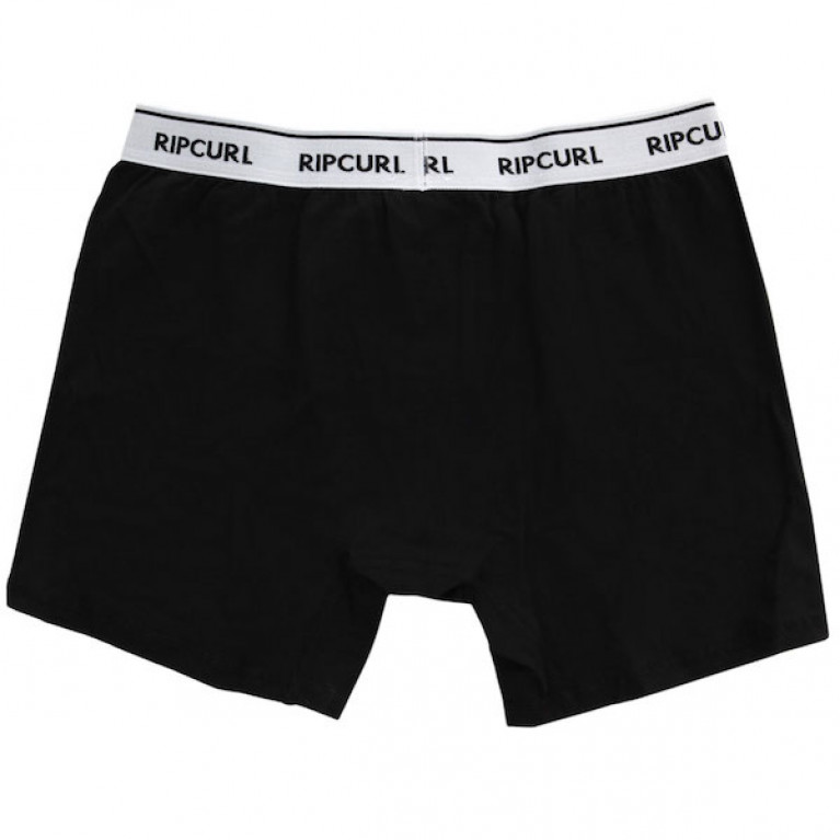 RIP CURL Трусы М SOLID & STRIPY BOXER BLACK