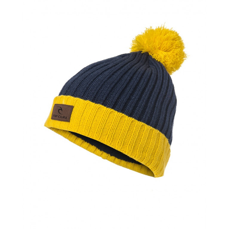 RIP CURL Шапка М POMPOM BEANIE SPICY MUSTARD
