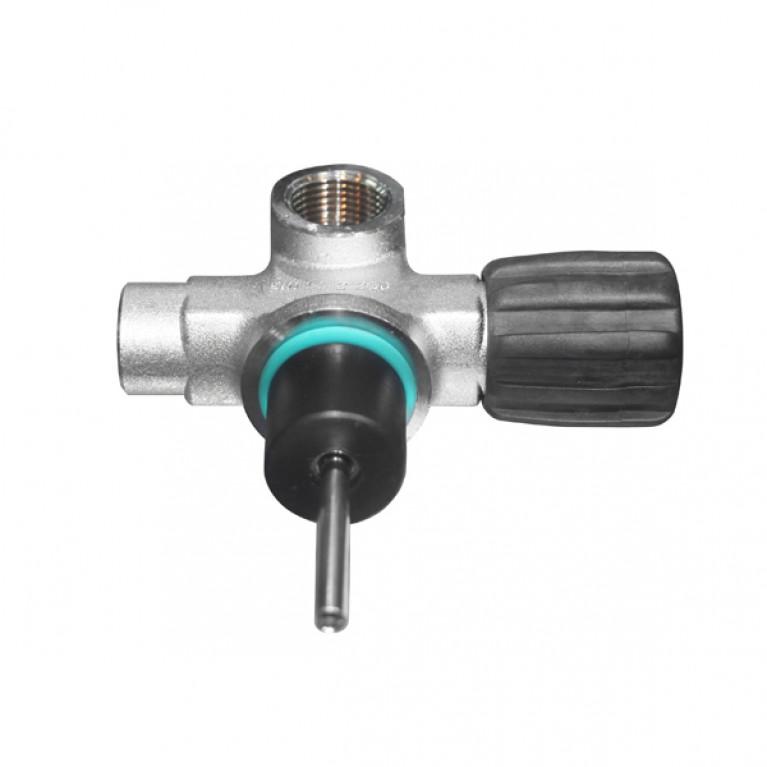 Вентиль M25x2 230bar левый 1 выход DIN O2 очищенный, модульный, без заглушки BTS