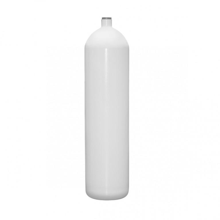 Баллон для сжатого воздуха 12л, 230bar BTS, Стальной , белый, без вентиля и башмака