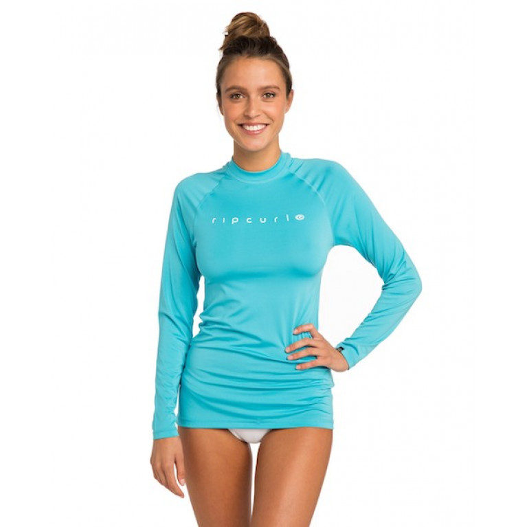 RIP CURL Гидромайка Ж SUNNY RAYS RELAXED L/SL; цвет 1080 LIGHT BLUE