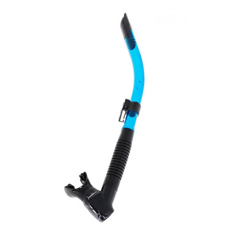 Трубка Marlin FLASH (прямая гофра) BLACK/T.BLUE