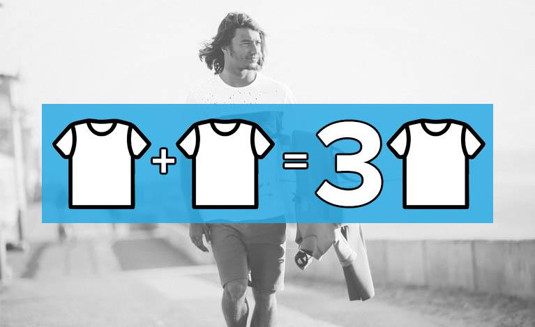 Акция 1+1=3 на все футболки!